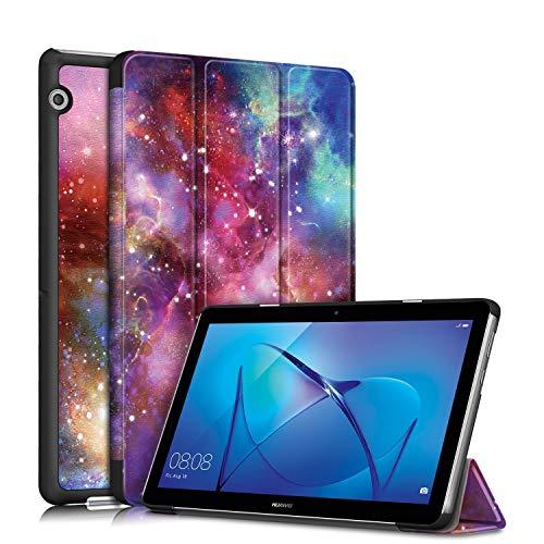 Tmore Schutzhülle für Huawei Mediapad T3 10 24,6 cm (9,6 Zoll), ultradünn, mit Standfunktion, Galaxy