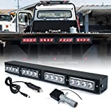 Xprite [Upgrade] 21.5' LED Trailer Towing Wireless Light Bar w/ 4 Pin Round Transmitter, Brake and Turn Signal Red Emergency Lightbar for Tow Truck Vehicle, Powerful Magnetic Base