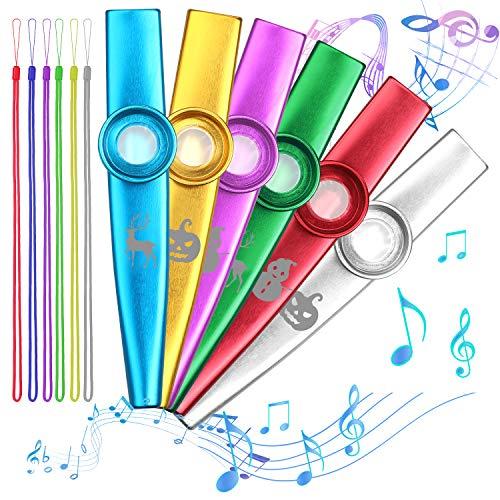Kazoo-Set aus 6 bunten Kazoos, Musikinstrument für Kinder und Musikfans