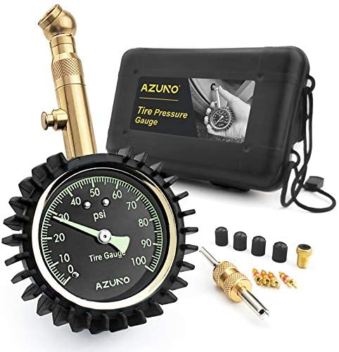 AZUNO Tire Pressure Gauge 100 PSI for Cars and Bikes product image
