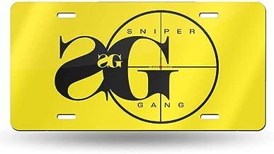 Include Sniper Gang Rap Car Accessories Metal License Plate Frame 12