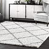 nuLOOM Tess Cozy Soft & Plush Modern Area Rug, 6' 7' x 9', White