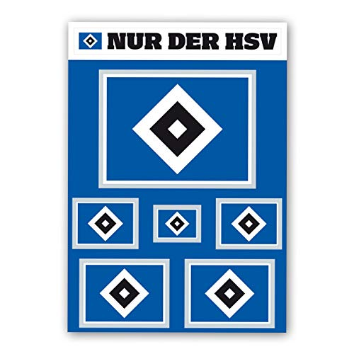 Hamburger SV HSV Aufkleber-Set Raute