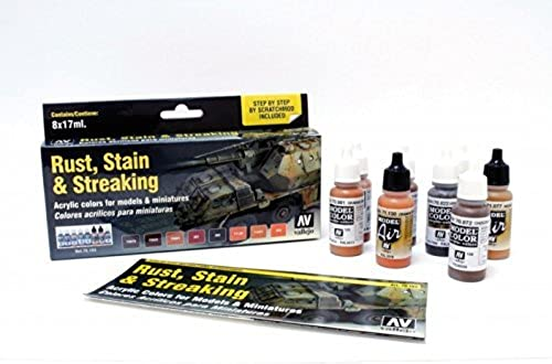 barato Vallejo Model Color  Staining, Staining, Staining, Rust & Streaking (8) by Vallejo  ofreciendo 100%