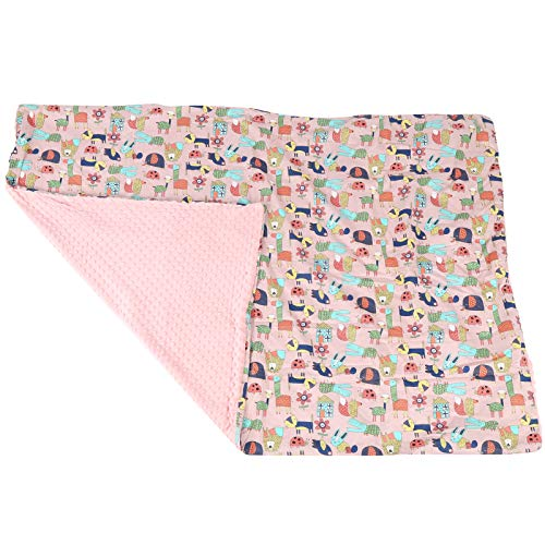 Manta Manta para bebé Manta para cochecito infantil agradable para la piel Manta para pañales(Pink Magic Animal City)