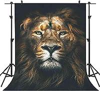 HDフォレストライオンの写真の背景5x7ftビデオスタジオの壁紙の写真ブースの小道具LHAY331のカスタマイズされた写真の背景