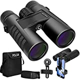 POLDR 10x42 Powerful Full-Size Binoculars for Adults, Waterproof Compact HD Binoculars for Hunting Concerts Bird Watching Travel Hiking BAK4 Prism FMC Lens-with Smartphone Adapter Strap Carrying Bag zoom binoculars Oct, 2020