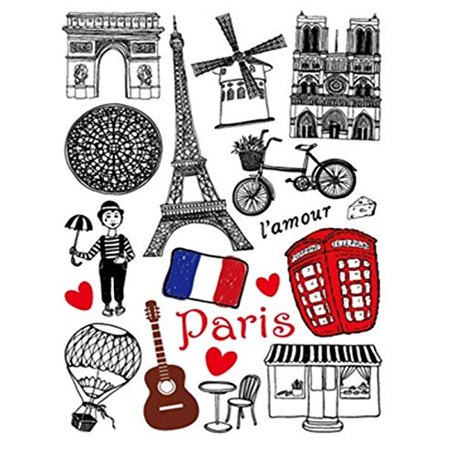 A4size New Cartoon Laptop Paris Stickers Pack For Iphone Ipad Android Phone Facebook Twitter Instagram 912 Most Populare