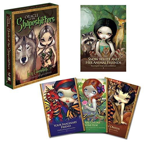 Xin Hai Yuan 45 Unids/Set Oracle of The Shapeshifters Tarot Cards Juego De Cartas De Adivinación Divertido con Guía En Inglés Friend Party Juegos De Mesa Juguetes