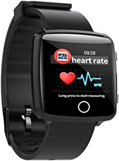 AIFSH Pulsera Inteligente Fitness Tracker, Pulsómetro Impermeable Monitor de sueño Podómetro Alarma Notificación de Mensajes pulsioxímetro para Android iOS Phone,Black-OneSize