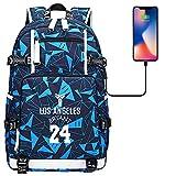 DDDWWW Basketball Player Kobe Mochila Boy Girl Moda Escuela Bolsa Portátil Mochila Multifuncional Leisure Travel Bag Neutral Estilo F