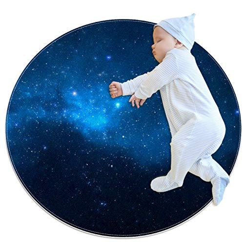 HDFGD alfombra decorativa sala de estar alfombra redonda chica alfombra yoga alfombra lavable sala de estar, Universo lleno estrellas nebulosa galaxia