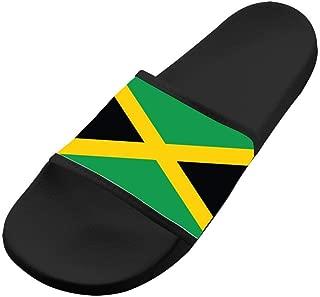 Shoes Unisex Non-Slip Jamaican Flag Comfort Slide Sandals Indoor & Outdoor Slippers