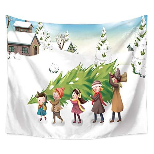 Meobhi wandtapijt, wandtapijt, kerstboom, sneeuwvlok, heks, hippie tapijt, wandtapijt, boho, decoratie, wandbehang