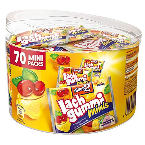 nimm2 Lachgummi minis (1 x 735g) / Fruchtgummi mit Fruchtsaft & Vitaminen