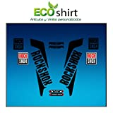 Ecoshirt DW-GOBR-BNFK Pegatinas Horquilla Fork Rockshox Reba 2016 Am33 Stickers Aufkleber Decals Adesivi Bike BTT MTB Cycle, Negro 26' y 27.5'