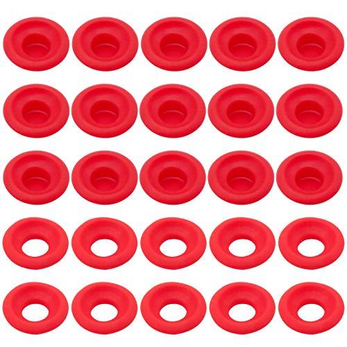 CKANDAY 50 piezas juntas de goma de silicona,2 tipos de sellos a prueba de fugas de alta presión para EZ Cap Swing Flip Top Botellas Junta para sellado de botellas de cerveza,cerveza o soda,color rojo