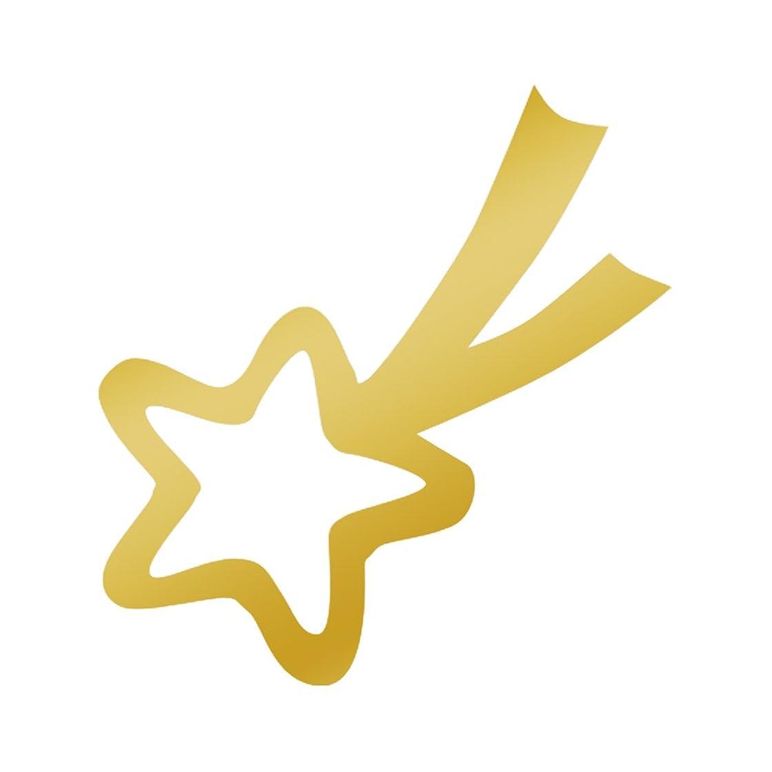統計的ばかげた習熟度リトルプリティー ネイルアートパーツ 流れ星 S ゴールド 10個