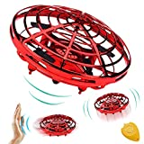 [Auto-Avoid Obstacles] Flying Ball, Hand Operated Mini Drones for Kids or Adults, Flying RC Drone Quadcopter Beginners 2 Speed 360°Rotating Magic Led Light Kids Outdoor Sports Toy Boy Girs Gift