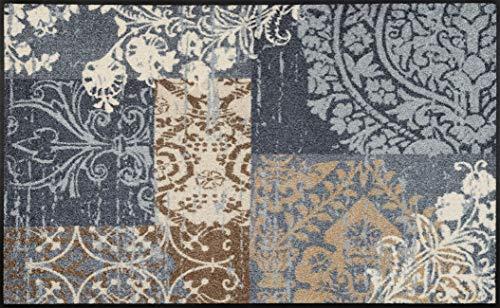 wash+dry Fußmatte, Polyamid, Grau, 75 x 120 cm