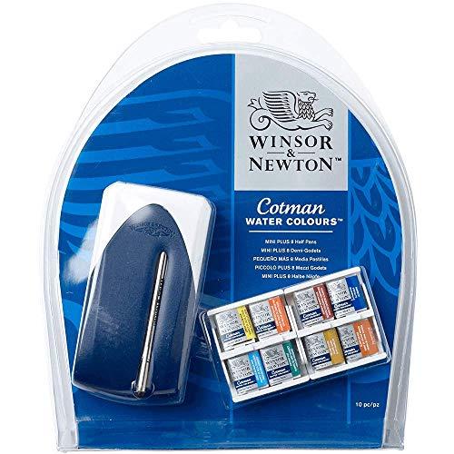 Winsor & Newton Cotman - Set Mini Plus de 8 medio godets de acuarelas