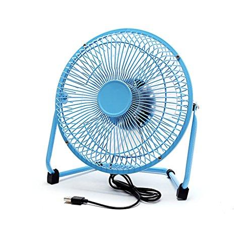 *KK* Ventilatore USB fan mini fan fan scrivania computer muto ventilatore studente dormitorio 8 pollici ventilatore piccolo (blu)