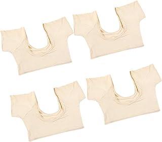 IPOTCH 4 Pieces Breathable Underarm Armpit Sweat Pads Shield Underwear Cami, Shields Sweat Guard - Sweat Absorbing Undershirt (M&L)