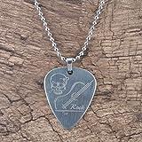 SeniorMar Médiators de Guitare électrique en métal en Acier Inoxydable avec Collier en Forme de Coeur pièces et Accessoires de Guitare de Haute qualité