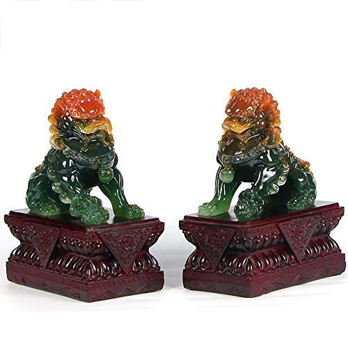 BOYULL Large Size Wealth Porsperity Pair of Fu Foo Dogs...