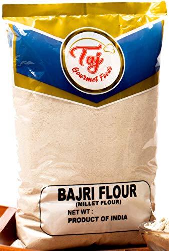 TAJ Premium Indian Millet Flour, Bajra Atta, Bajri ka Atta, Bajri Flour (4-Pounds)