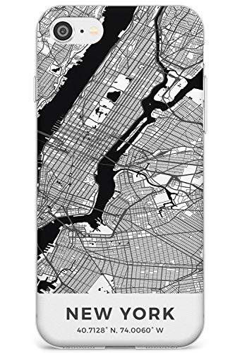Mappa di New York, New York Slim Cover per iPhone 6 TPU Protettivo Phone Leggero con Viaggio Wanderlust Stati Uniti d'America Città Strade