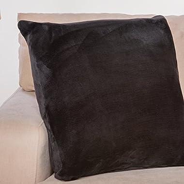 Throw Pillow, Comfy Couch Pillow,MemoThrow, Memory Foam Throw Sofa Couch Pillow, Comfortable Throw Pillow, Contour Memory Foam, Luxurious Faux Fur Flannel Cover, Gift for Men, Women, Grandparents