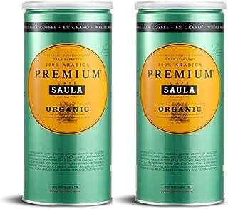 Café Saula grano, Pack 2 botes de 500 gr. Premium Ecoló