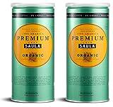 Café Saula grano, Pack 2 botes de 500 gr. Premium Ecológico 100% arábica