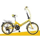 XQ- XQ-TT-623 Faltrad 20 Zoll Unterschiedliche Geschwindigkeit Gelb