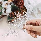 Handcess Braut Hochzeit Haarkämme Silber Kristall Braut Haarschmuck Strass Kopfschmuck für Braut und Brautjungfern