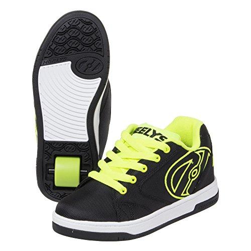 Heelys Boys' Propel 2.0 Sneaker, Black/Bright Yellow, 3
