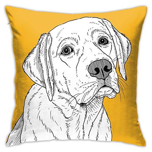 Kissenbezug mit Labrador-Motiv, dekorativer Kissenbezug, bequem, quadratisch, für Sofa, Schlafzimmer, Stuhl, Auto, 45 x 45 cm