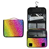 ALARGE - Bolsa de aseo para colgar con diseño de lunares, diseño de lunares, multicolor
