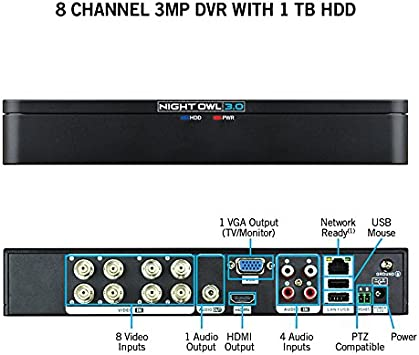 Home Security & Surveillance DVR-X3-81 Black Night Owl X3-81 3MP ...