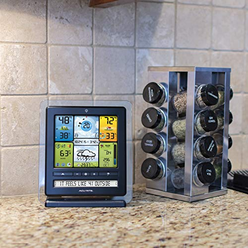 Product Image 6: AcuRite 02064 5-in-1 Color Station with Weather Ticker and Future Forecast, White, Black