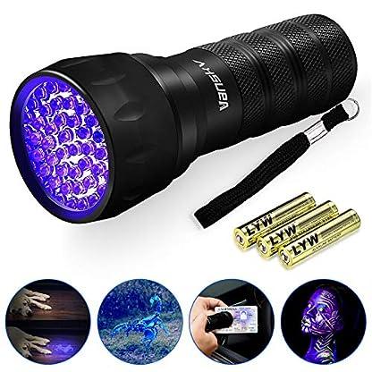 Vansky UV Torch 21 LEDs, UV Flashlight Black Light for Pet Urine Detection, Blacklight Detector for Dog Urine, Pet Stains, Bed Bug on Carpet/Rugs【3 x AAA Batteries Included】 1