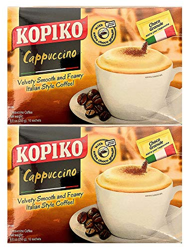 Kopiko Cappuccino Instant Coffee with Choco Granule (2 pack)