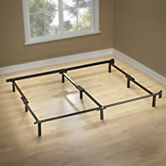 RELIABLE SUPPORT FOR YOUR BOX SPRING & MATTRESS - The dependable Compack bed frame features solid steel construction, multiple legs and a center support beam that you can rely on for years to come HEADBOARD COMPATIBLE - Brackets are included with thi...