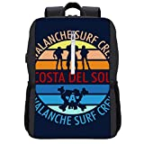 Final Fantasy Costa Del Sol Avalanche Surf Crew Mochila Daypack Bookbag Laptop School Bag con puerto de carga USB