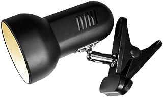LEDデスクライト クリップライト E26 360°回転 読書 仕事 PC電気 スタンド作業デスク 卓上 ランプ に適用 付属のLED電球(ブラック)