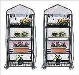 Gardman R687 4-Tier Mini Greenhouse, 27' Long x 18' Wide x 63' High (Pack of 2)