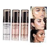 Heall Cara líquido Highlighter Highlighter Maquillaje de Ojos Glitter aclaran Concentrado Iluminador Bronce Gotas Maquillaje Suministros