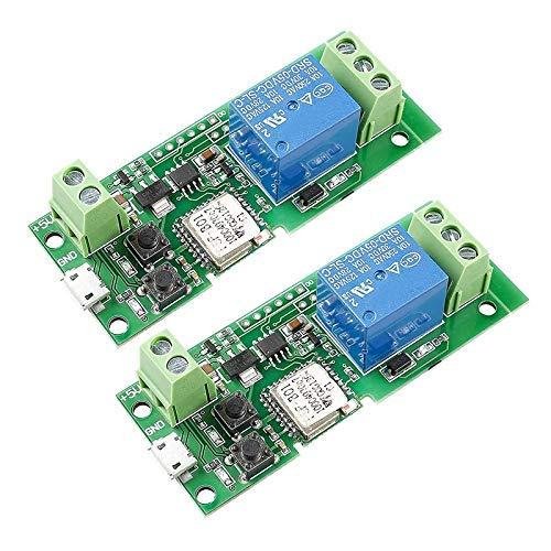 HYY-YY Módulo de relé WiFi USB 5V relé inteligente controlador de interruptor de casa con aplicación, Ba aplicado al control de acceso, encender PC, puerta de garaje, programa de aprendizaje