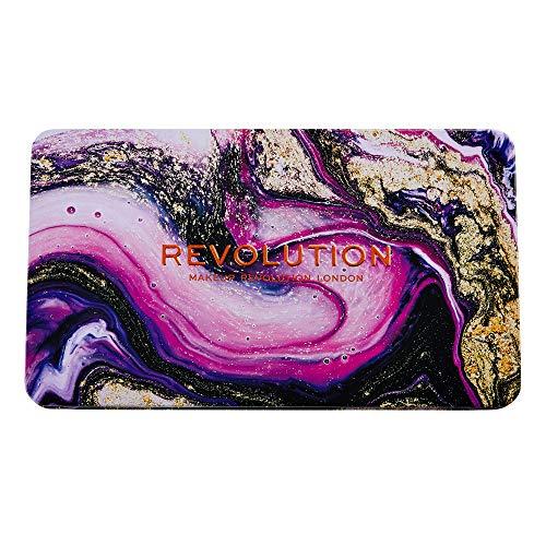 MakeUp Revolution Forever Flawless Eutopia -18 matte, schimmernde und marmorierte, kompakte Glitzerlidschatten